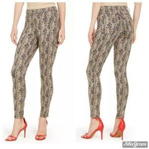 HUE Women's Denim Leggings Size XS Python Print